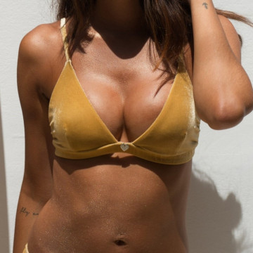 RAD POLE -   SUNNY DAYS BIKINI top GOLD