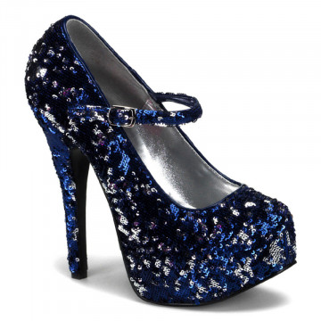 Bordello TEEZE-07SQ Blue-Slv Sequins