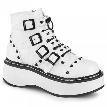 Demonia EMILY-315 White Vegan Leather