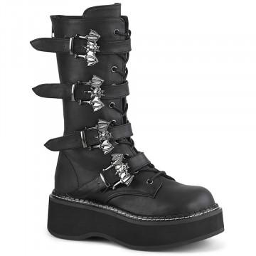 Demonia EMILY-322 Blk Vegan Leather