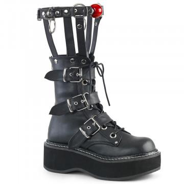 Demonia EMILY-355 Blk Vegan Leather