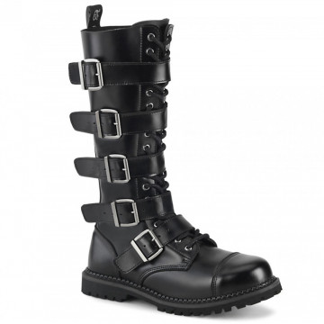 Demonia RIOT-18BK Blk Leather