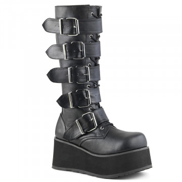 Demonia TRASHVILLE-518 Blk Vegan Leather