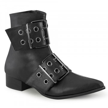 Demonia WARLOCK-55 Blk Vegan Leather