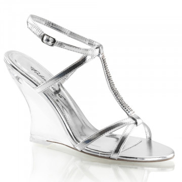 Fabulicious LOVELY-428 Slv Metallic Pu/Clr