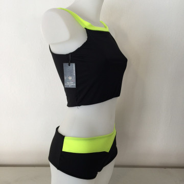 I-POLE WEAR - Short Culotte Adria pole Nero\Yellow