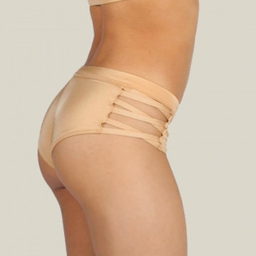 MADEMOISELLE SPIN - ISADORA SHORTS CREAM GOLD