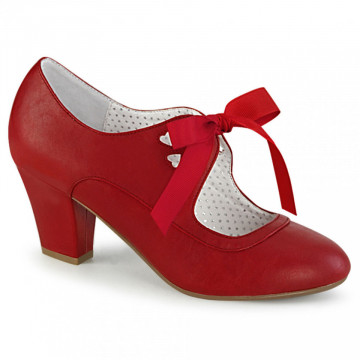 Pin Up Couture WIGGLE-32 Red Faux Leather