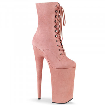 Pleaser BEYOND-1020FS B. Pink Faux Suede/B. Pink F