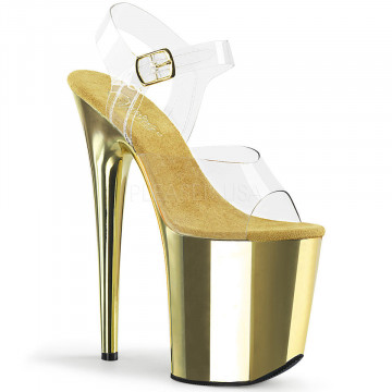 Pleaser FLAMINGO-808 Clr/Gold Chrome