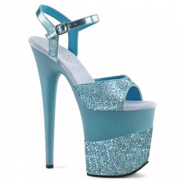 Pleaser FLAMINGO-809-2G B. Blue Glitter/B. Blue Glitter