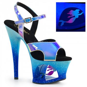Pleaser MOON-711MER Blue Shifting TPU/Blue Ombre