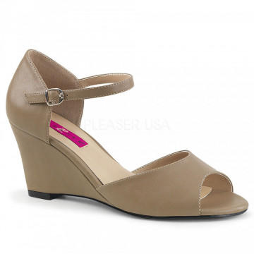 Pleaser Pink Label KIMBERLY-05 Taupe Faux Leather