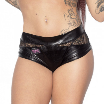 WINK POLE WETLOOK GRIP TERRI AND LISETTE SHORTS h24