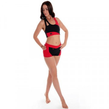 Wink W0130 - Pantaloncino lycra bicolor sport donna