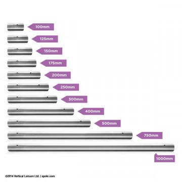 X-pole Estensioni da 500mm a 1000mm dazi inclusi INOX