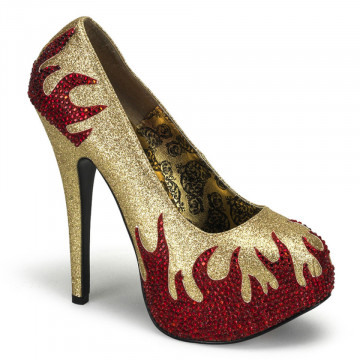 Bordello TEEZE-27 Gold Mini Gltr-Red Rstn