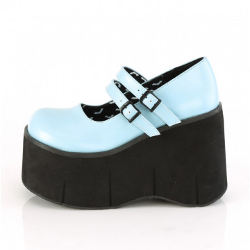 Demonia KERA-08 B. Blue Vegan Leather