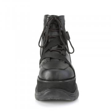 Demonia NEPTUNE-181 Blk Vegan Leather