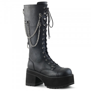 Demonia RANGER-303 Blk Faux Leather