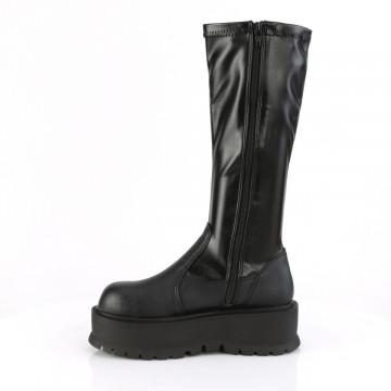 Demonia SLACKER-200 Blk Str Vegan Leather