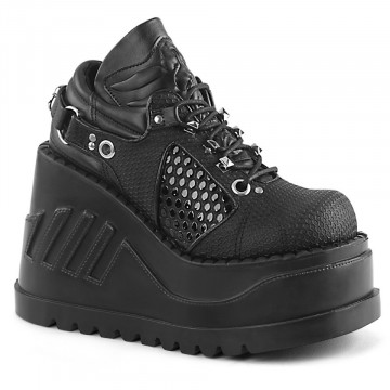 Demonia STOMP-09 Blk Vegan Leather