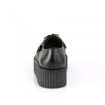 Demonia V-CREEPER-516 Blk Vegan Leather