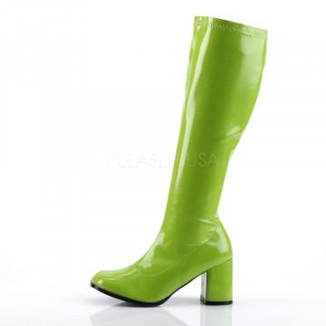 Funtasma GOGO-300 Lime Green Str Pat