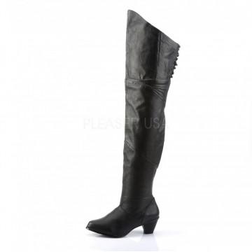 Funtasma MAIDEN-8828 Blk Leather (P)