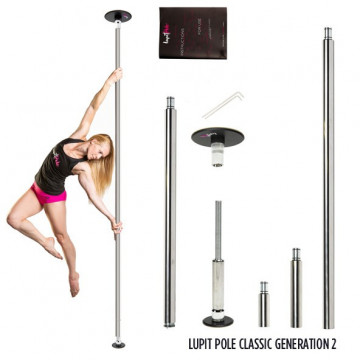 LUPIT Nuovo G2 CLASSIC Palo INOX anallergico 42 o 45mm Home fitness pole