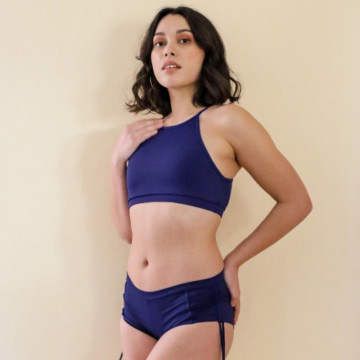 Mademoiselle spin Top GABY BLU NOTTE