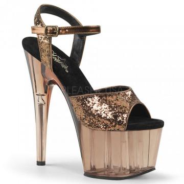 Pleaser ADORE-710GT Bronze Glitter/Bronze Tinted