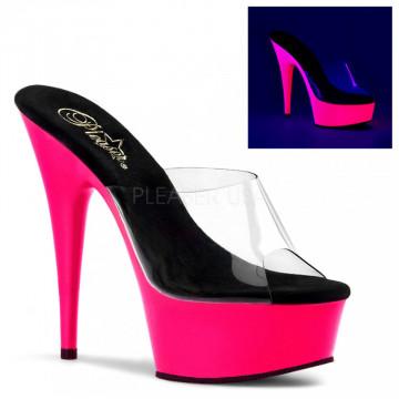 Pleaser DELIGHT-601UV Clr/Neon Pink