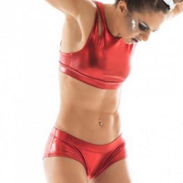 POINT OUT Nebula Short rosso sport wear h24