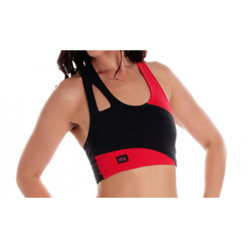 WINK POLE asymmetric crop top ROSSO
