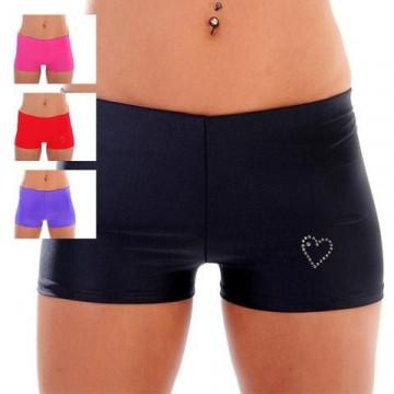 WINK POLE Lycra Hotpants with Diamante Detail W0110