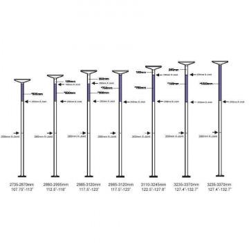 X-pole Pole kit   Estensioni Cromo 100/250