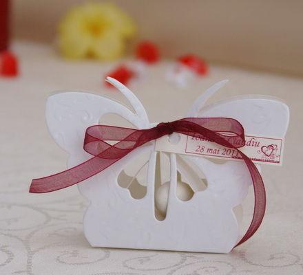 Marturii nunta botez cutiuta fluturas VN010