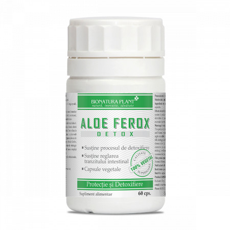 Aloe Ferox, protectie si detoxifiere, 60 cps