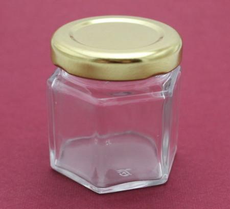 Borcanele hexagonale 45 ml cu capac DBOR45