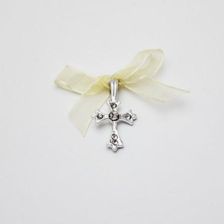 Set 50 cruciulite botez elegante si cutie cruciulite cu dantele cadou CC-012