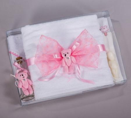 Trusou botez ursuleti roz NK013