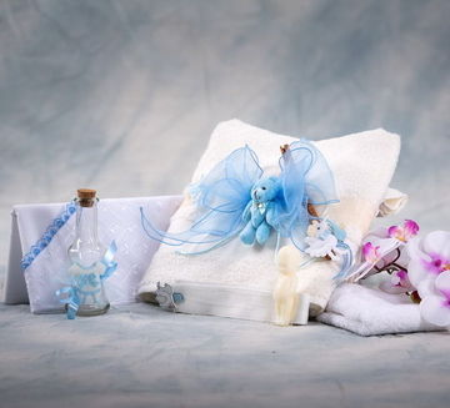 Trusou botez ursuleti figurine bleu NK026