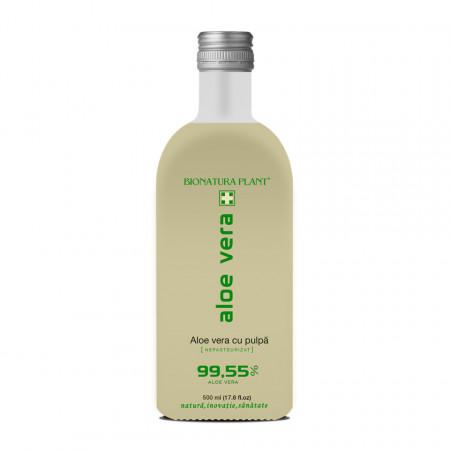 Aloe Vera, suc cu pulpa nepasteurizat, 500 ml