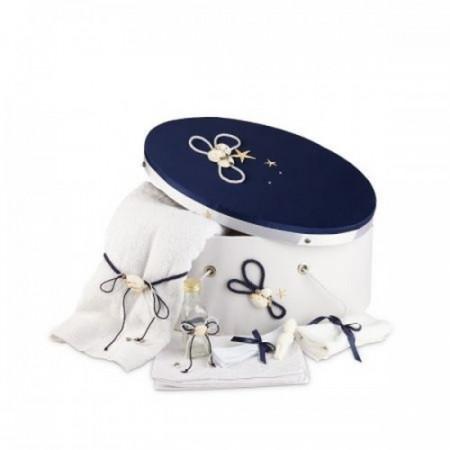 Trusou botez si cutie decorata marin NK-TR-005
