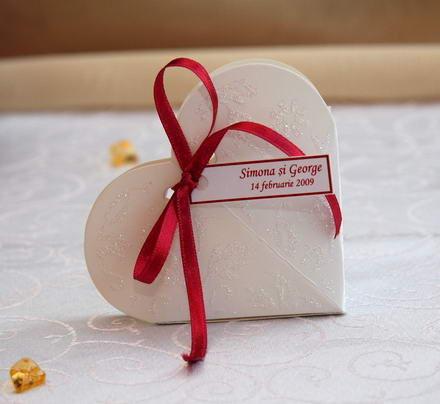 Poze Marturii nunta cutiute inimioara cu sclipici VN008