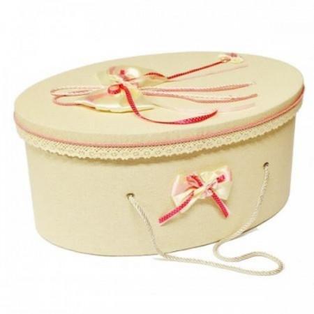 Poze Trusou botez si cutie decorata cu fluturasi si fundite roz LG205-1