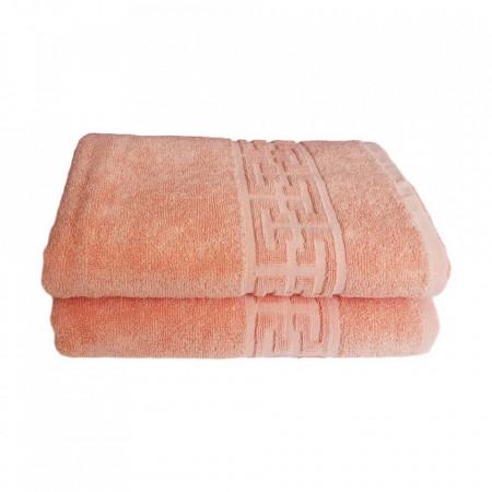 Set 2 prosoape groase si pufoase, bumbac, model grecesc, Somon, Denikos® 275