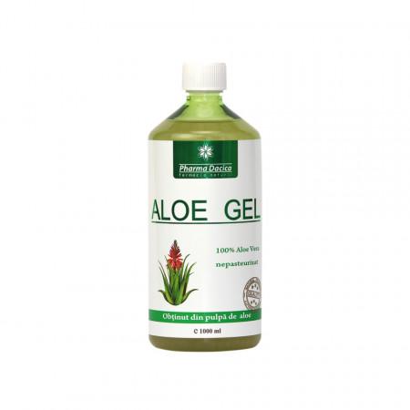 Aloe Gel, suc natural de Aloe Vera, 1 litru