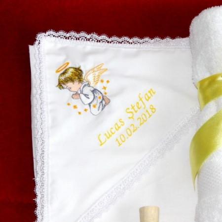 Trusou botez complet ingeras personalizat cu numele copilului NKTB010